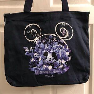 Disney Dreams Florida Zippered Top Tote Bag